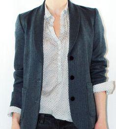 Dear Henley Navy Dot Shirt | Women's Clothing | Prairie Well | Scoutmob Shoppe | Product Detail