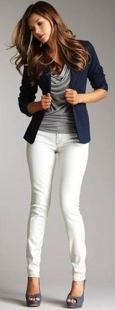 Nice 57 Cute Blazer Outfits Ideas For Women. More at https://trendwear4you.com/2018/02/05/57-cute-blazer-outfits-ideas-women/