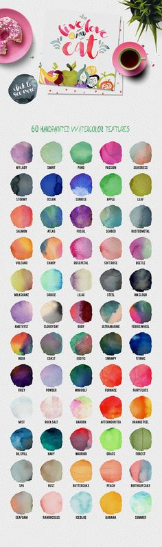 Wonderful Watercolor Design Pack. Color
