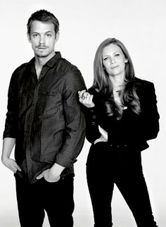 Mireille Enos  Joel Kinnaman - Detectives Holder and Linden. My two favorite TV characters from one of my favorite TV series, The Killing.
