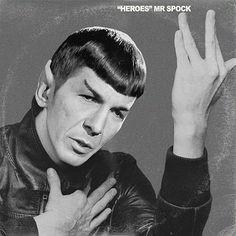 David Bowie / Star Trek Mr Spock Vinyl Record Album Mash Up Parody Art Print #mashup #photoshop #parody #albumcover #album #cover #lp #record #vinyl #scifi #nerd #music #movie #geek #etsy #mrspock #startrek #leonardnimoy