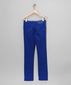 Take a look at this Royal Skinny Jeans by Miss Jeans on #zulily today!