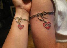 Companion Matching Tattoos - 70+ Lovely Matching Tattoos  <3 !