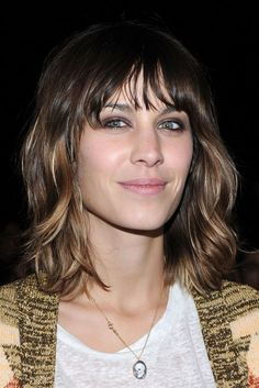 A Slideshow of the Most Amazing Shag Haircuts: Alexa Chung With Bangs