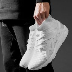 more photos d77f1 2e296 ASICS is stepping up their knit game. Knit Sneakers, Knit Shoes, Shoes  Sneakers