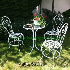 white wrought iron furniture. Wrought Iron Chair. Price: 84.62Euro. Handmade. Color: White. Patina White Furniture