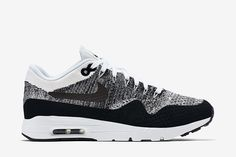 "Nike WMNS Air Max 1 Ultra Flyknit ""Black / White"" - EU Kicks: Sneaker Magazine"