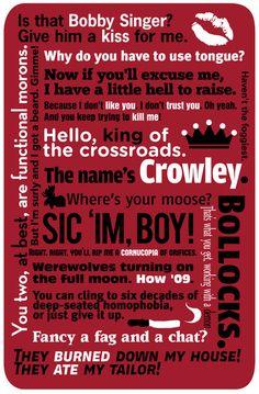 supernatural crowley quotes | Supernatural - Crowley Quotes Art Print by natabraska | Society6