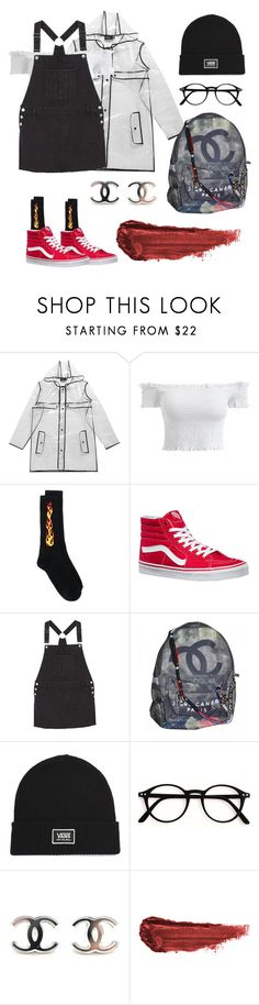 """""""🕸🕸❄️🕸🕸"""" by shira250 ❤ liked on Polyvore featuring Boohoo, Palm Angels, Vans, MANGO, Chanel and By Terry"""