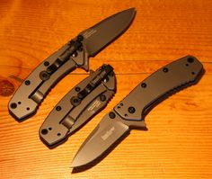 Kershaw 1555Ti Cryo Folding Knife, PlainEdge Blade, Rick Hinderer Design