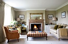 By Evernden Interiors. Another lovely room - calm but cosy. (SM)