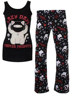 David   Goliath Ninja Ladies Pyjama Set 2a7f6e698