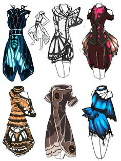entomancy:  cat-chit-ananda:  animatics-comics:  HHHmmmmm~ Dresses based on butterflies i saw at butterfly world.Was gonna make fake pokemon BUT NO. DRESSES.   I would wear all of these forever.  Want.