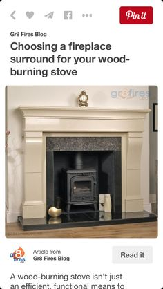 Choosing a fireplace surround for your wood-burning stove Wood Burning Stove Insert, Wood Stove Surround, Fire Surround, Fireplace Surrounds, Fireplace Design, Wood Burner Fireplace, Fireplace Wall, Fireplace Ideas, Wood Tile Bathroom Floor