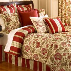 waverly imperial dress brick 4piece comforter set and euro sham separate - Waverly Bedding