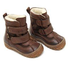 Bisgaard vinterstøvle til små børn - brun med 2 velcro