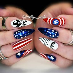 18 Pointy Nails Designs You Can't Resist To Copy ★ Awesome Pointy Nails Arts Inspired by Your Favorite Movies Picture 2 ★ See more: http://glaminati.com/pointy-nails/ #pontynails #pointynaildesigns