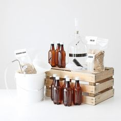 Brewery in a Box / 1 Gallon Home Brewing Kit with 2 Grain Packets / Beer Making op Etsy, 87,25 €