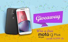 Win* a FREE Moto G Plus 4th Gen worth Rs. 14,999/-