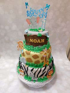 Jungle Theme, Happy Day, Birthday Cake, Desserts, Food, Tailgate Desserts, Birthday Cakes, Deserts, Eten