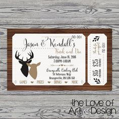 Printed Raffle Buck and Doe Tickets -Jack and Jill Tickets - Stag and Doe… Raffle Tickets, Party Tickets, Stag And Doe Games, Ticket Design, Jack And Jill, Christmas Party Games, Sleepover Party, Bridal Shower Rustic, Purple Wedding