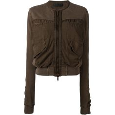 Haider Ackermann Cropped Bomber Jacket (815 CAD) ❤ liked on Polyvore featuring…