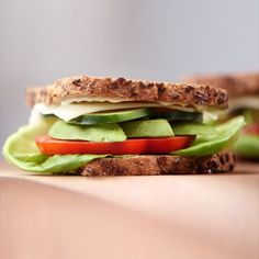Packed with heart-healthy monounsaturated fats and high in fiber, this avocado, lettuce, and tomato sandwich is a healthier version of the BLT. Watch the video for the healthy recipe and demo. | Health.com