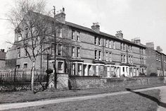 Clyde Terrace off Wilford Road, as seen from Queens Drive recreation ground in 1975