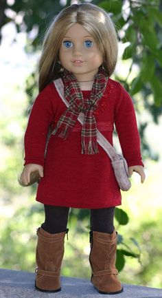 American Girl Doll Bell-Sleeved Wool Coat by DollClosetHeirlooms