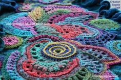 freeform crochet russia | Noro silk garden sock and multicolor wool. This great freeform crochet ...