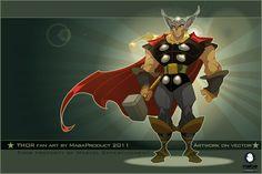 Fan-Art Thor on vector by MabaProduct.deviantart.com on @deviantART