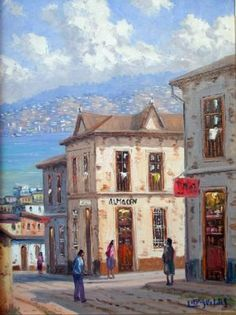 Arte, pintura, oleo, acuarela, escultura House Painting, Illustrations, Home Art, Watercolor Paintings, Paris, House Styles, Mansions, Ideas Para, Buildings