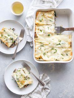 chicken mushroom spinach lasagna recipe