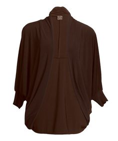 Take a look at this Brown Cocoon Cardigan - Women & Plus by Clara Sunwoo on #zulily today!