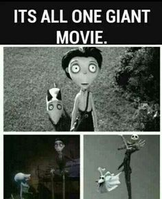 No, in Frankenweenie the dog's name is Sparky and the boy's name is Victor Frankenstein, in the Corpse Bride Victor has different parents, and his dog is named Scraps. In The nightmare before Christmas his name is Jack and his dog is named Zero....