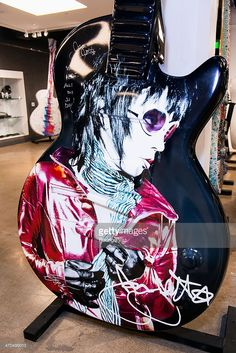 'Unvarnished' Joan Jett guitar sculpture by Tsipi Mani at the Joan Jett, February 19, Fender Stratocaster, Rock Music, Rock Bands, Musicians, Lisa, Guitar, California