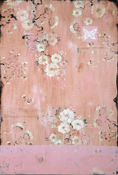 """Love Letters and Pressed Flowers,"" 36 x 24"" www.kathefraga.com Kathe Fraga paintings 2014 Inspired by vintage Paris and Chinoiserie ancienne"