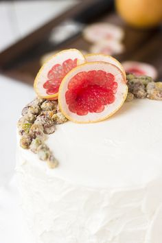 Roasted Grapefruit and Grapefruit Candied Pistachio Cake - Whisk Kid
