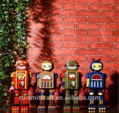 retro robot figurine / funny gift for kids