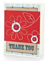 Stitched Thank You Card by @Betsy Veldman - supplies and instructions included