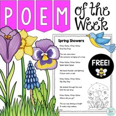 This is a free poem of the week activity. Poetry and shared reading are a great match to help build reading fluency, word work skills and more! This is a freebie that is part of a larger product of 40 Poems. You can check out my Poem of the Week Mega Bundle By Clicking the link below:Poem of the Week Mega BundleThese poems are great for use with shared reading, Daily 5 Word Work, literacy centers, whole class and small group activities.