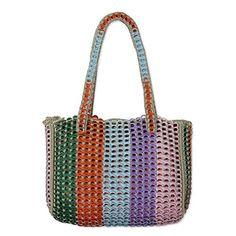 NOVICA Multicolor Crocheted Shoulder Bag, 'Rainbow Style'...