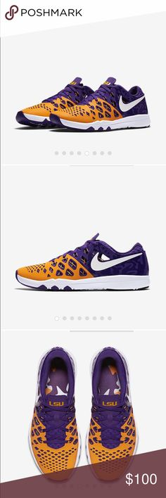 NIKE TRAIN SPEED 4 AMP (LSU) Men's Training Shoe Brand new in box. Received as a gift but never wore them. Still in Nike Box Nike Shoes Athletic Shoes