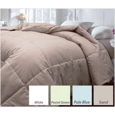 Microfiber Color Down/Feather Blend Comforter