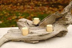 rustic furniture driftwood candle holder, crafts, home decor http://www.hometalk.com/5228501/rustic-furniture-driftwood-candle-holder?se=wkly-20141019&utm_medium=email&utm_source=wkly&date=2014-10-19&tk=b3h3ym