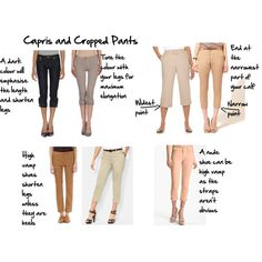 capris and cropped pants how to wear by imogenl, via Polyvore