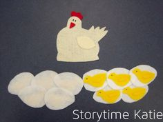 Flannel Friday: Ten Fluffy Chickens | storytime katie