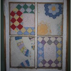Old Windows and Old Quilts go great together!