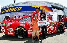 Juan Pablo Montoya has won the Sprint Cup pole for the Finger Lakes 355 at Watkins Glen International.