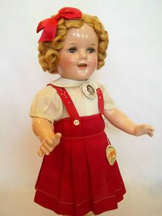 """18"""" IDEAL 1938 Composition SHIRLEY TEMPLE DOLL From LITTLE MISS BROADWAY 